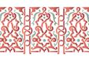 Бордюр арабеска 26 (трафарет, малая картинка)