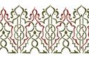 Бордюр арабеска 27 (трафарет, малая картинка)