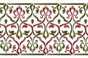 Бордюр арабеска 28 (трафарет, малая картинка)