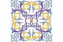 Плитка арабеска 1 (трафарет, малая картинка)