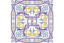 Панно арабеска 1 (трафарет, малая картинка)