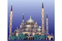 Синяя Мечеть (трафарет, малая картинка)