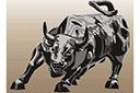 Трафарет Атакующий бык