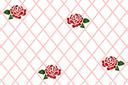 Трафарет обоев Сетка с розами