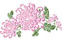 Мотив китайских хризантем 2 (трафарет, малая картинка)