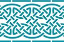 Широкий кельтский бордюр