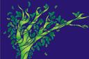 Волшебный лес 1 (трафарет, малая картинка)