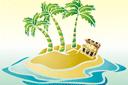 Остров сокровищ (трафарет, малая картинка)