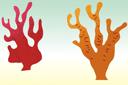 Морские кораллы (трафарет, малая картинка)