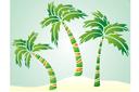 Три пальмы (трафарет, малая картинка)