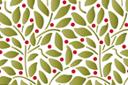 Листья и ягоды: обои (трафарет, малая картинка)
