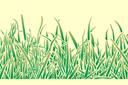 Бордюр из травы (трафарет, малая картинка)