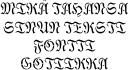 Трафарет шрифт Готика