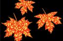 Хохломской клен 1 (трафарет, малая картинка)