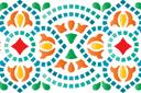 Индийский бордюр (трафарет, малая картинка)