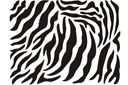 Шкура зебры (трафарет, малая картинка)
