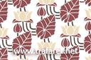 Лилии и листья (трафарет обоев, малая картинка)