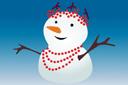 Снеговичка (трафарет, малая картинка)