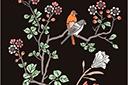 Трафарет Восточные птички на ветке