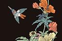 Трафарет Восточная панель с птичкой