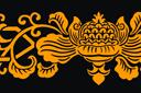 Восточный декоративный узор (трафарет, малая картинка)