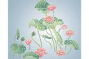Водяные лилии востока (трафарет, малая картинка)