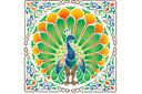 Жар-птица 2 (трафарет, малая картинка)