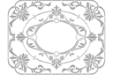 Рамка из цветов 2 (трафарет, малая картинка)