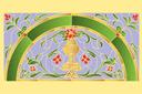 Узор с вазой (трафарет, малая картинка)