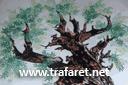 Старая олива (трафарет, малая картинка)