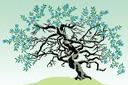 Цветущее дерево (трафарет, малая картинка)