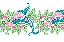Бордюр цветочный пейсли В