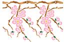 Ветка вишни весной В