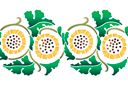 Бордюр из желтых хризантем