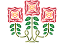Ветка с тремя цветками А