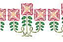 Ветка с тремя цветками В