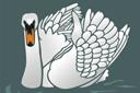 Лебедь 1 (трафарет, малая картинка)
