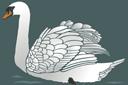 Лебедь 2 (трафарет, малая картинка)