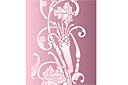 Загадочный цветок (трафарет, малая картинка)