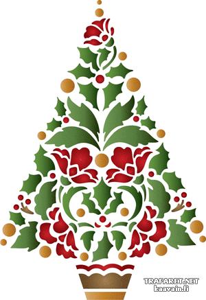 Трафарет Рождественская елка