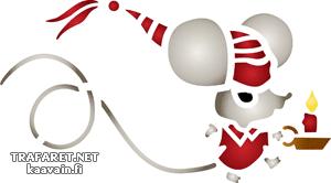 Трафарет Новогодняя мыша