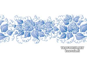 Гжельский бордюр 06 (трафарет, малая картинка)