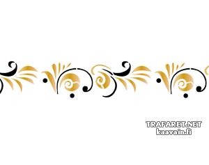 Малый хохломской бордюр (трафарет, малая картинка)