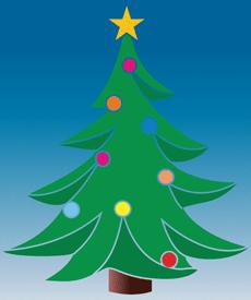 Маленькая елка (трафарет, малая картинка)