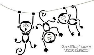 Три смешные обезьянки
