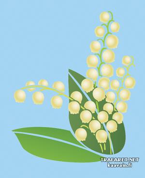 Жостовский ландыш (трафарет, малая картинка)