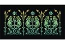 Хамелеоновый бордюр (трафарет, малая картинка)