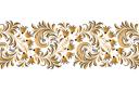Хохломской бордюр 14 (трафарет, малая картинка)