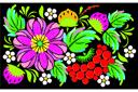 Петриковская роспись 03 (трафарет, малая картинка)