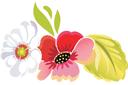 Жостовские цветы (трафарет, малая картинка)